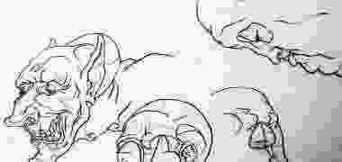 Dibujos Cuatro rostros