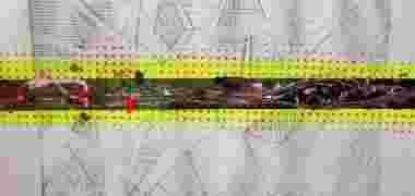 Grabado geometrico intervenido
