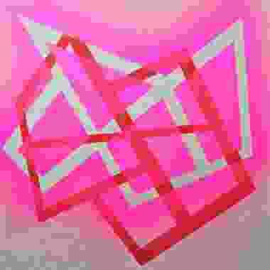 Negativo sobre positivo, 2021, Técnica mixta sobre lino crudo, 100 x 100 cm