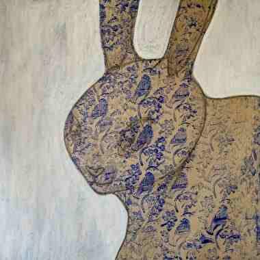 Fertilidad, 2021, Técnica mixta sobre lino crudo, 100 x 100 cm.