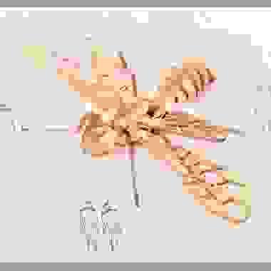 Estudio de escultura, insecto modulado a escala 1:100, 2021